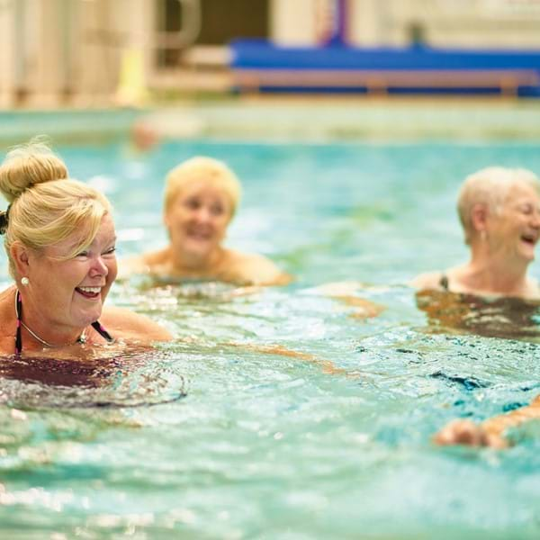 Ladies doing aqua class