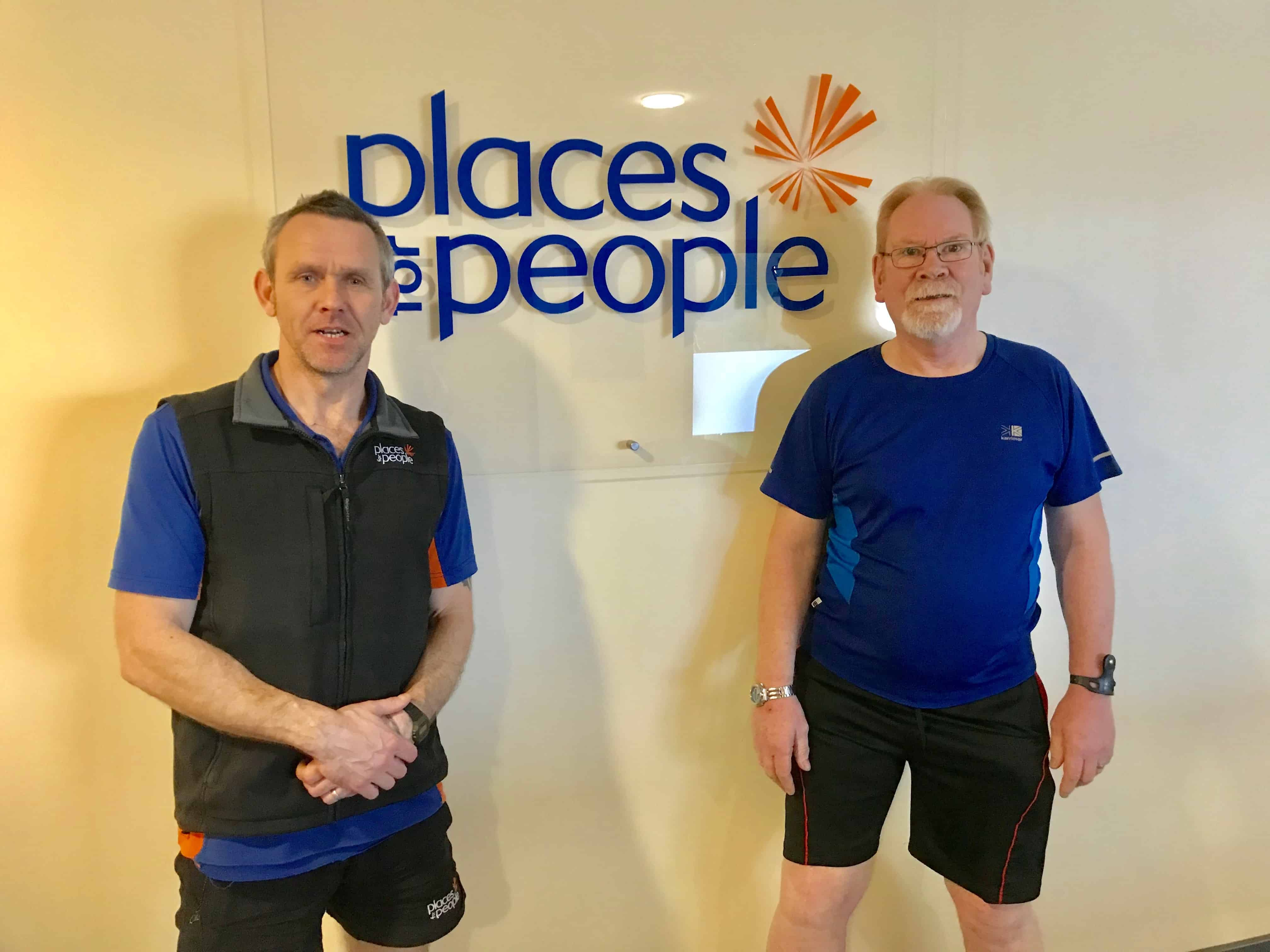 steve and paul standing next to places for people logo